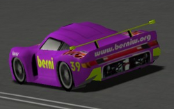 Porsche 911 GT1 rear preview