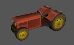 Tractor red skin