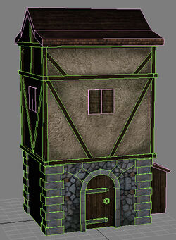 House wireframe