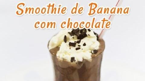 Smoothie de Banana com Chocolate