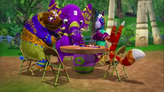 Ella, Franklin, Paulie, and Hudson Playing a Card Game