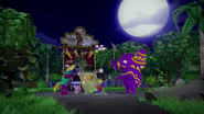 The Bonboon Forced To Drink His Potions By A Crowd Of Pinatas