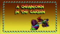 A Chewnicorn in the Garden