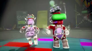 Moozitron and Professor Pester Dancing
