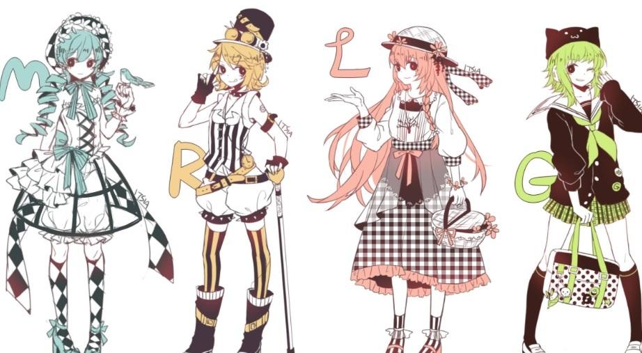 Luka,Miku,meiko,Rin