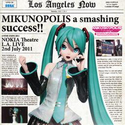 """Image of """"MIKUNOPOLIS in LOS ANGELES """"はじめまして、初音ミクです"""" (MIKUNOPOLIS in LOS ANGELES """"Hajimemashite, Hatsune Miku desu"""")"""""""