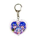 Otomachi Una 3 Girls Heart Acryllic Keychain