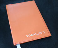 VOCALOID3 Leather Book Cover Orange