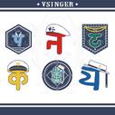 Vsinger 2019 embroidery badge