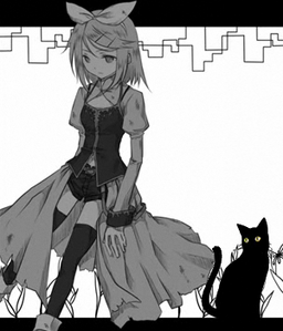 "Image of ""少女と黒い猫 (Shoujo to Kuroi Neko)"""