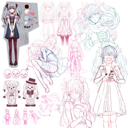 Karakuri Pierrot sketches