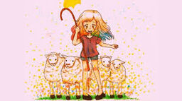 """Image of """"Dreamy Sheep Herder"""""""