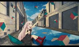 """Image of """"N号室の落下するカーテン (n-goushitsu no Rakkasuru Curtain)"""""""