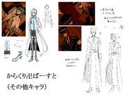 Concept art Karakuri Burst other characters
