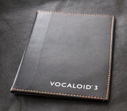 VOCALOID3 Leather Book Cover Black
