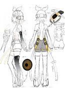 Illu Vocaloid Kagamine Rin Append-sketch