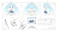 Snow Miku 2019 Concept Art