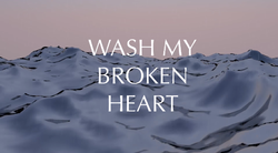 Wash my broken heart