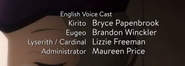 Sword Art Online Alicization Episode 13 Credits