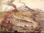 Monti Rossi eruption in 1669
