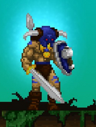 Volgarr equipped with Baldurs Protection