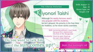 Kiyonori Taishi - Profile