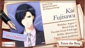 Kai Fujisawa - Profile