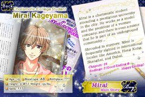 Mirai Kageyama - Profile