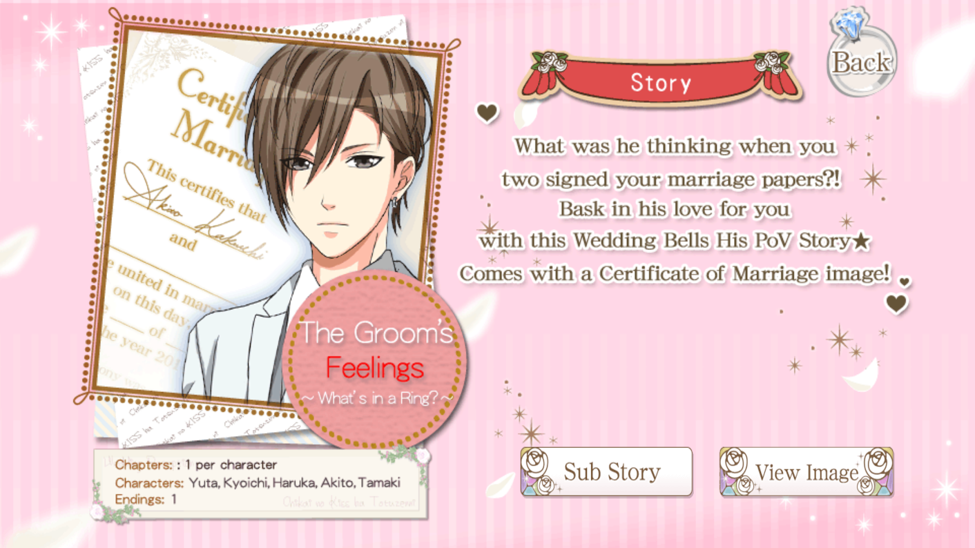 The Groom\'s Feelings ~What\'s in a Ring?~ | Voltage Inc Wiki | FANDOM ...