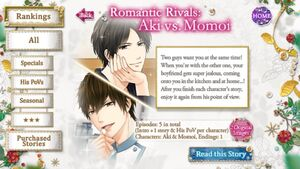 Romantic Rivals Aki vs. Momoi