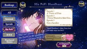 His PoV - Huedhaut
