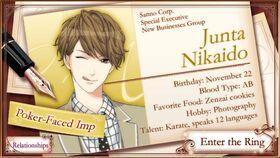 Junta Nikaido character description (1)