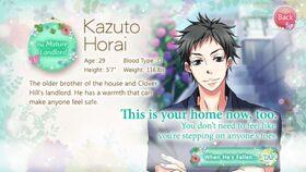 Kazuto Horai character description (1)
