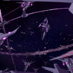 The Galra Empire core fleet in the intro.