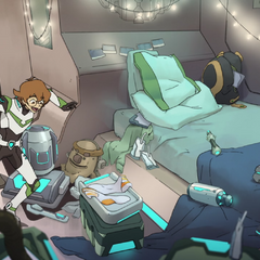 Pidge's room is a disaster waiting to –<br />- nevermind.