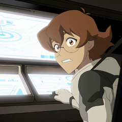 Pidge in the Garrison training simulator.