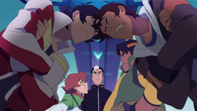 File:165. Keith Lance butting heads while Pidge Hunk glare.png