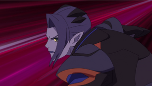 S3E06.243. Acxa rushes in to counter Keith's sword