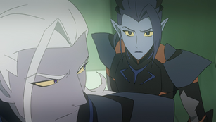Acxa and Lotor make eye contact