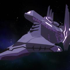 Haggar's ship is bigger and uglier.