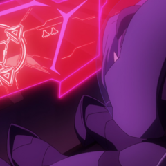 Symbol on one of the Sincline ship's screens as Lotor takes over.