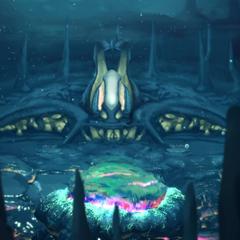 The underwater village.