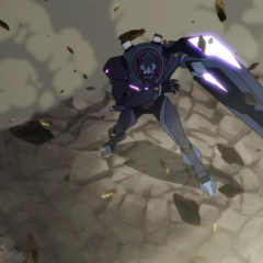 Zarkon forms a large cannon with the black bayard shortly before his death.