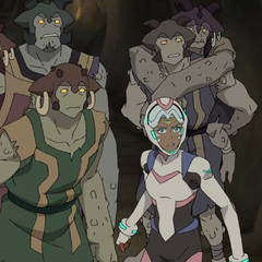 Allura leads Shay and her family to the surface so they can evacuate.