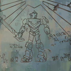 Carving of Voltron.