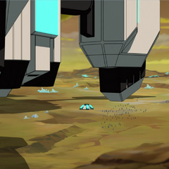 See those wee little specks? Those be Allura and the Balmerans.