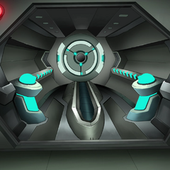 Airlock with middle door open.