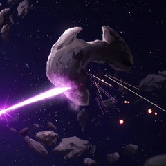 So these things can fire across interstellar space, but are defeated by a <i>rock</i>?