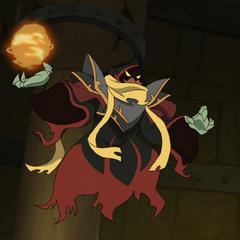 The evil wizard Dakin.