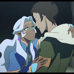 Lance catches Princess Allura...